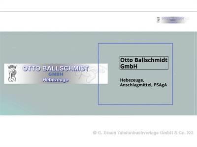 Ballschmidt Otto GmbH Spezialunternehm. f. Hebezeuge