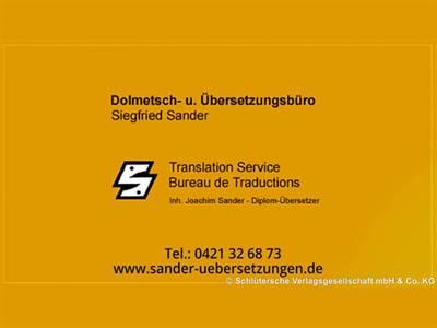 Dolmetsch- u. Übersetzungsbüro Siegfried Sander