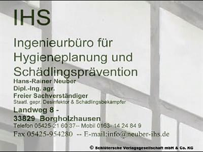 IHS - Neuber - Ingenieurbüro für Hygieneplanung und Schädlingsprävention