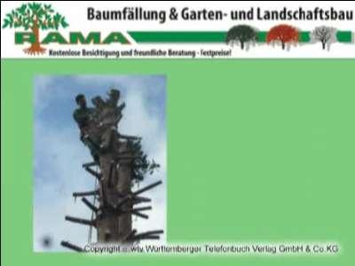 Aussenanlagen Baumfällung Landschaftsbau Rama