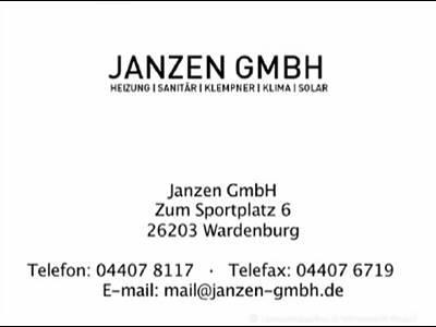 Janzen GmbH Heizungs- & Sanitärtechnik